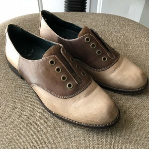 Cole Haan Leather Oxford Slip-On Brown Shoes